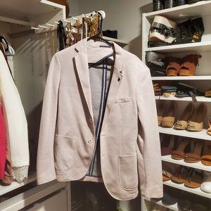 Zara Light Pink Sport Coat Blazer with elbow patch